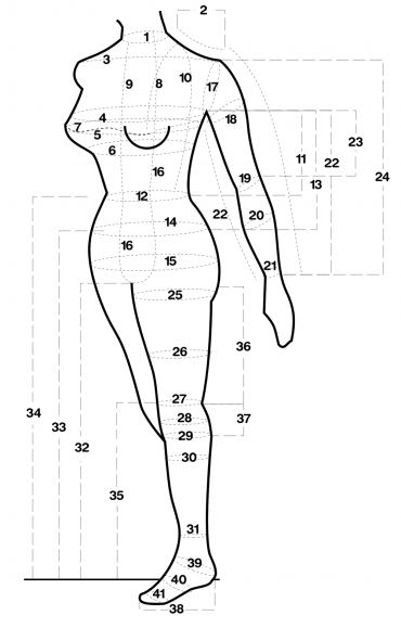 Fantastic Rubber measurements illustration